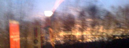 Morgendämmerung, Februar 2009, bei Neuhaus/Obrf.