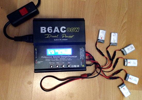 Hubsan Akkus an B6AC 80W Dual Power Ladegerät