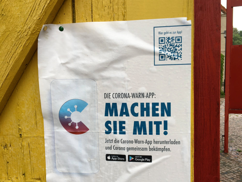 Corona Warn App - Plakat