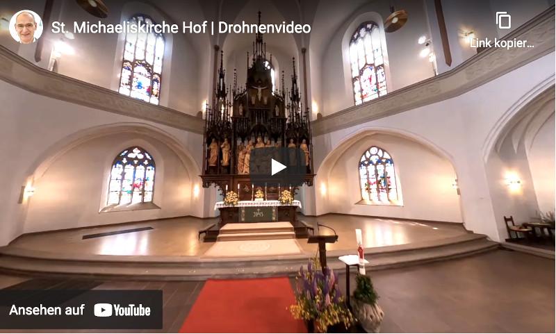Drohnenvideo St. Michaeliskirche Hof Saale