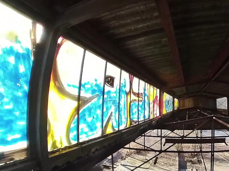 lost place Bahnposthalle in Hof - Dachfenster