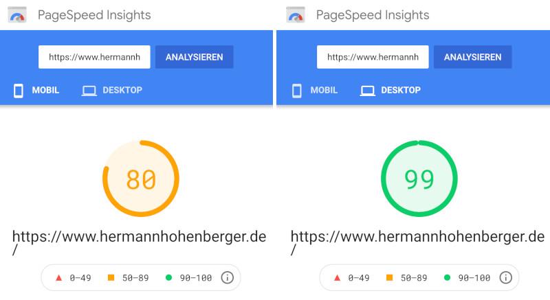 Meine WebSite optimieren mit Google Pagespeed